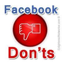 4 temas a los cuales uno debe de evitar si quiere hacer de FB un medio social agradable