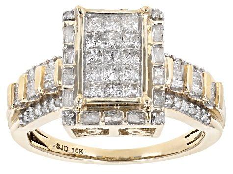 White Diamond Ring 10k Yellow Gold 90ctw Sbg056 In 2020 White Diamond Ring Yellow Gold Rings White Gemstone