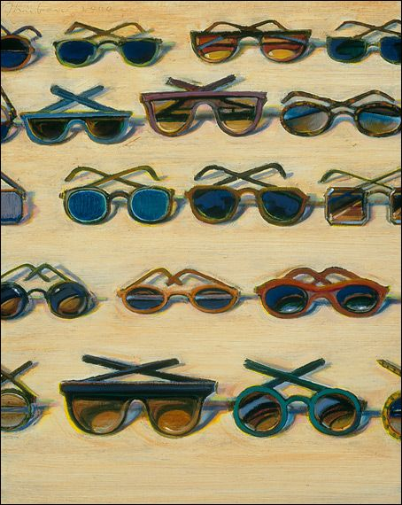 """Five Rows of Sunglasses""  Gift of the Thiebaud Family, The Phillips Collection."
