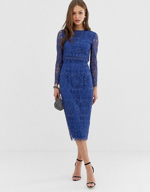 Is This 119 Asos Find The Perfect Wedding Guest Dress Midi Pencil Dress Pencil Dress Long Sleeve Midi