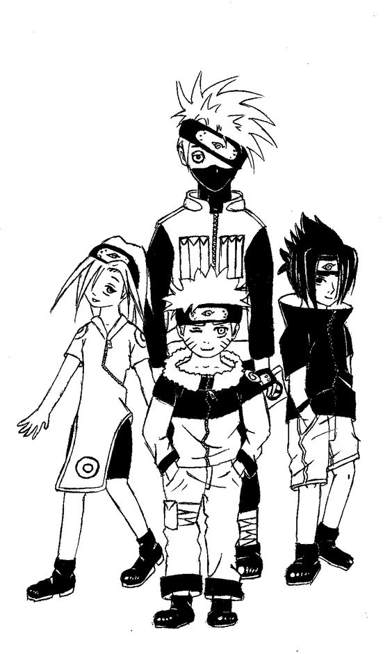 My attempt at drawing Team 7 by memory - I made quite a few mistakes! But is was fun. ~*