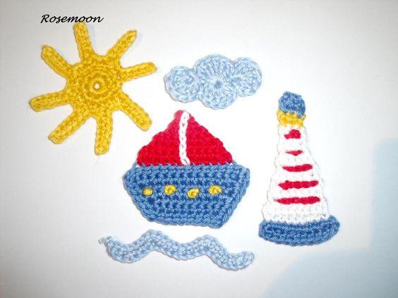 Schiff, Leuchtturm , Sonne, Wolke