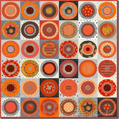 Now when I worked on the color combination of orange and grey  I see it everywhere, even bulls' eyes seem to be around every corner.  And wh...