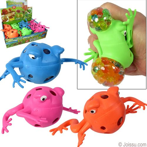 Squishy Gel Bead Frog Stress Balls Just Squeeze The Froggie And