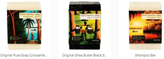 We have an amazing line of natural organic shea butter soap. Our amazing African Black Soap is 100% natural. Find the biggest selection of products from African Fair Trade Society. http://www.africanfairtradesociety.com/products/shea-butter-soap/