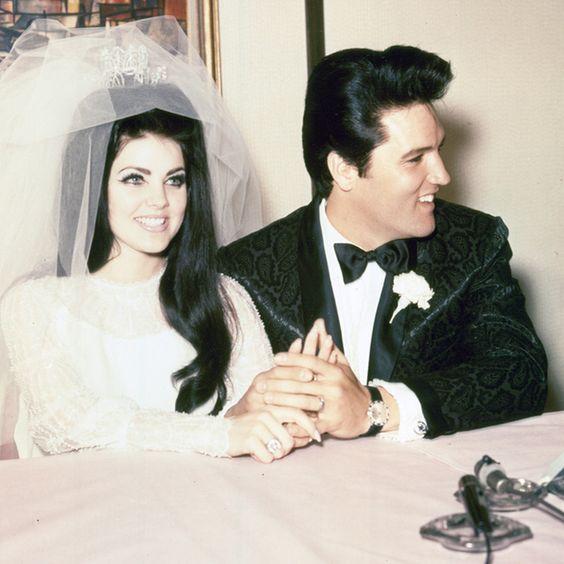 Elvis and Priscilla Presley's Wedding Photos   Brides.com