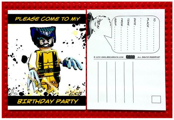 LEGO® Custom Party Invitations $12