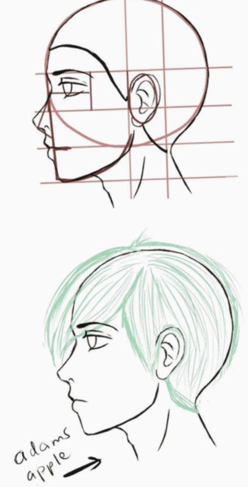 Anime Face Base Boy Myheroacademiacosplay Mhacosplay Cosplay In 2020 Side Face Drawing Face Side View Drawing Manga Drawing Tutorials