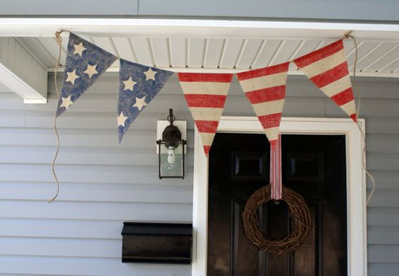 LOVE LOVE this flag bunting!