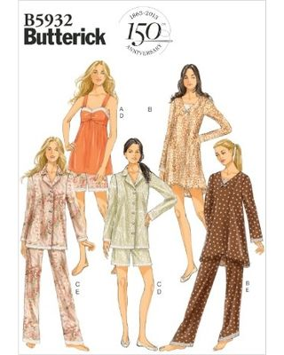 Butterick Patterns B5932 Misses' Camisole, Dress, Top, Shorts and Pants Sewing Template, Size Y (XSM-SML-MED)
