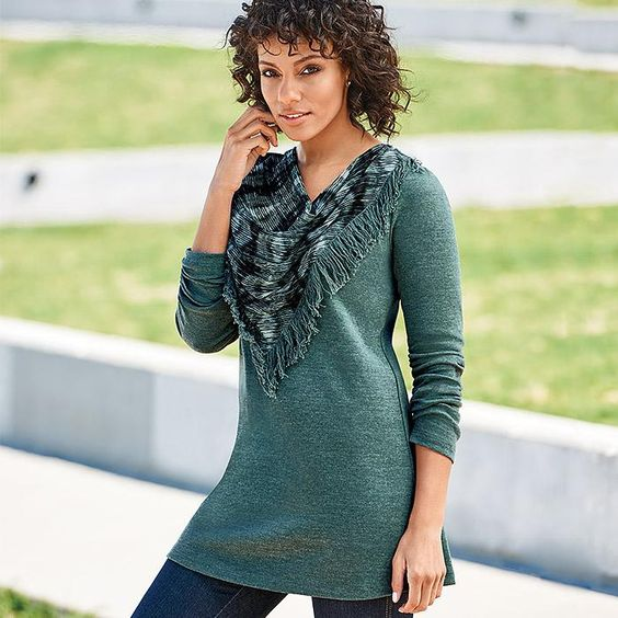 Image result for avon scarf neck top