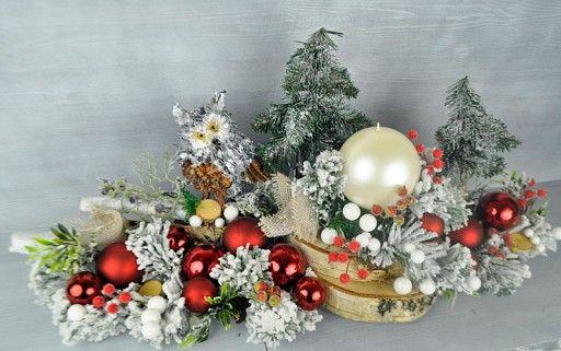 Swiecznik Swiateczny Bozonarodzeniowy Szklo Stroik 5806165293 Oficjalne Archiwum Allegro Holiday Decor Christmas Wreaths Christmas Tree