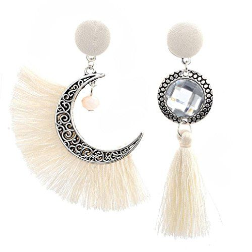 Elegant Crystal Drop long Lune Soleil Pendentif Boucles d/'oreille pour femmes Bijoux Cadeau