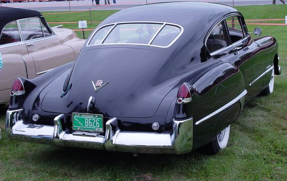 1949 Cadillac Club Coupe Fastback rear - Cadillac Photography - CaddyInfo Cadillac Forum