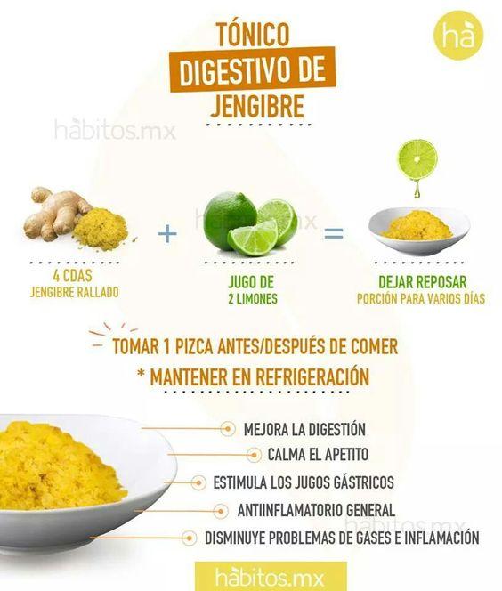 Digestivo de jengibre