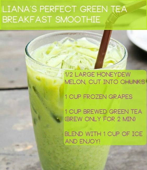 Honeydew, grapes, green tea Smoothies Pinterest Green Teas