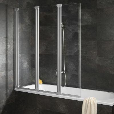 schulte schulte badewannenfaltwand 3 teilig 1300 mm. Black Bedroom Furniture Sets. Home Design Ideas