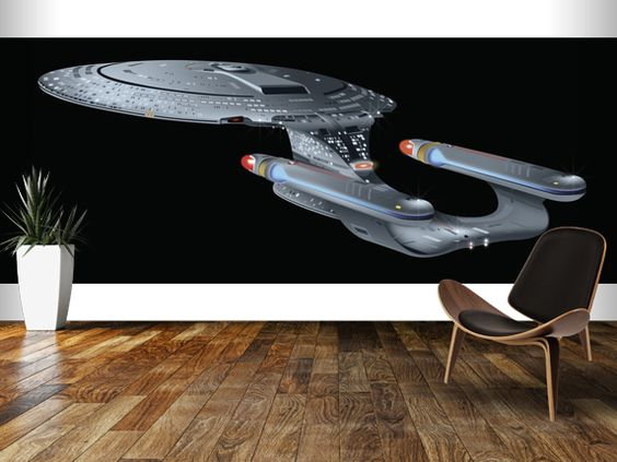 star trek next generation wall mural enterprise wall 3d window view fantasy star trek space ship wall sticker