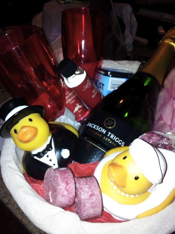 Wedding Night Gift From Bride To Groom : Wedding Night Gift Basket for the Bride & Groom