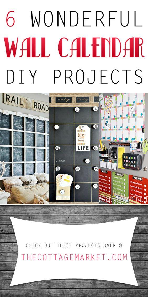 Calendar Diy Ideas : Wonderful wall calendar diy projects the cottage