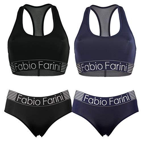 Fabio Farini Pack of 6 Panties Hipsters with Lace