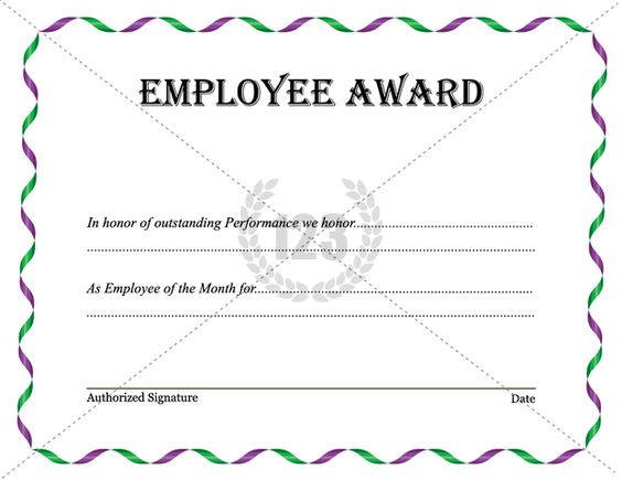 Best Employee Award Template Download Now – Employee Recognition Certificate Template