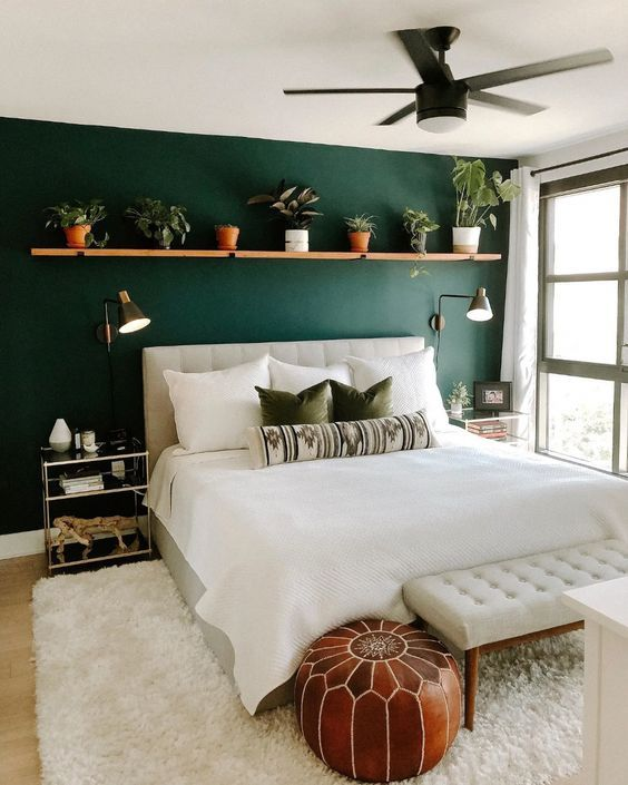 Pin By Fancy Fantacy On Spare Room In 2020 Green Bedroom Walls Bedroom Trends Bedroom Interior Green spare bedroom ideas