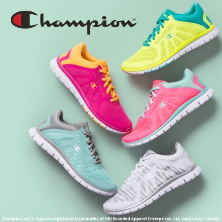 Stay a hop ahead of the hunt with Champion athletics in hot hues! Shop these great shoes in Payless Shoe Source at the Colonial Park Mall, Harrisburg, Pa.