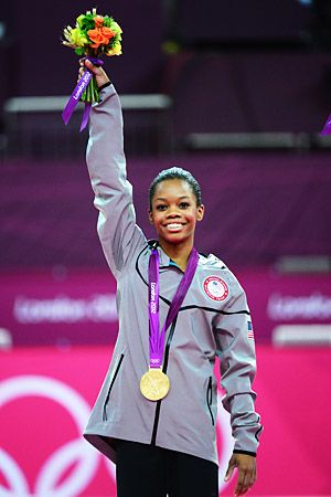 """Gabby Douglas - Women's All-Around Gymnastics Gold Medalist - - Her last name rearranged spells out """"USA GOLD"""""""