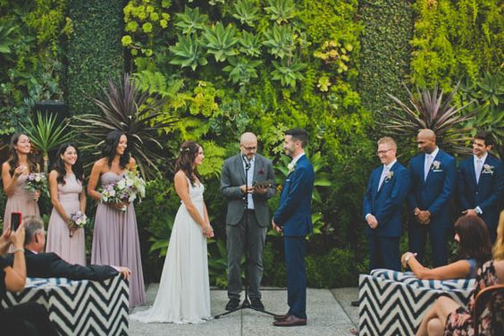 Kelly   Ryan's eclectic wedding