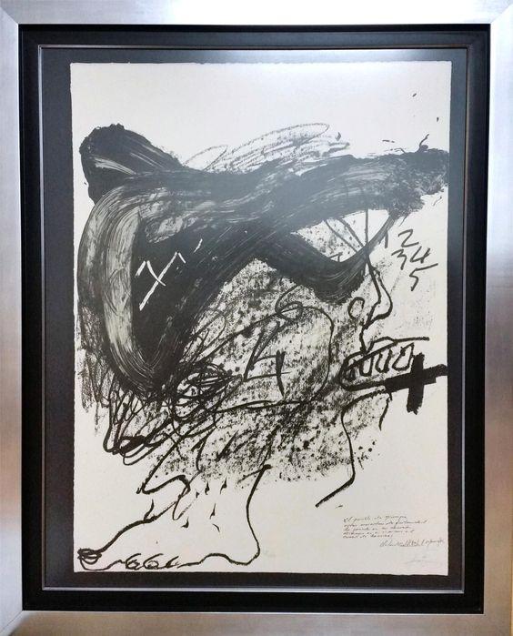 """Antoni Tàpies: """"Sin título"""" 51/100 (1987) - Subasta Real"""