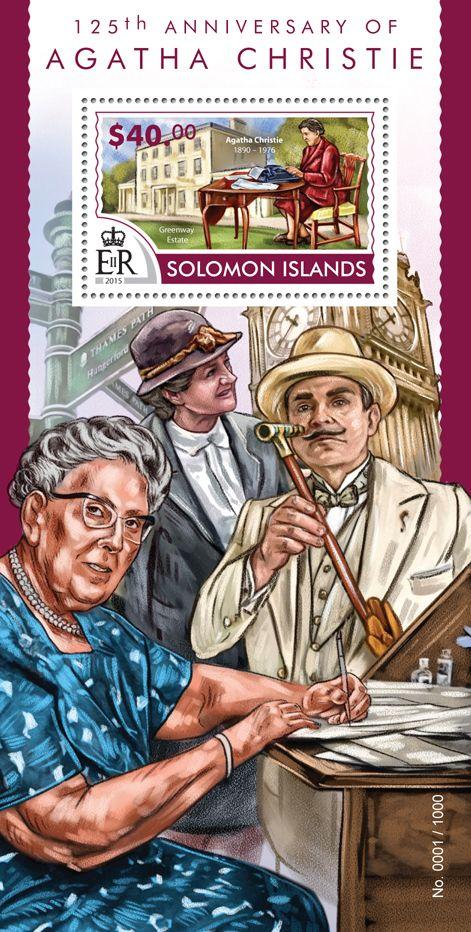 Solomon Islands 2015 Stamp Series 125th Anniversary Of Agatha