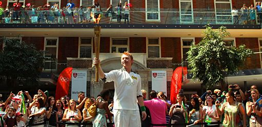 Headline: Rupert Grint carries Olympic Torch. We pretend it's a Goblet of Fire.