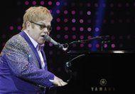 British singer Elton John performs