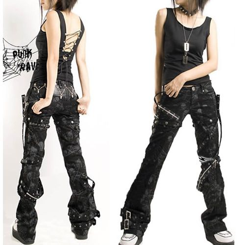rave clothing pants punk rock outfits punk rock kleidung rave kleidung