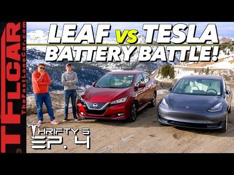 1 We Drive A Tesla Model 3 Vs Nissan Leaf Up A Mountain To See Which Is More Efficient Thrifty 3 Ep 4 Yo Nissan Leaf Electric Cars Nissan Leaf Tesla Model