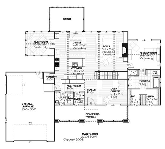 Craftsman style house plan love the mudroom bathroom for House plans with mud rooms