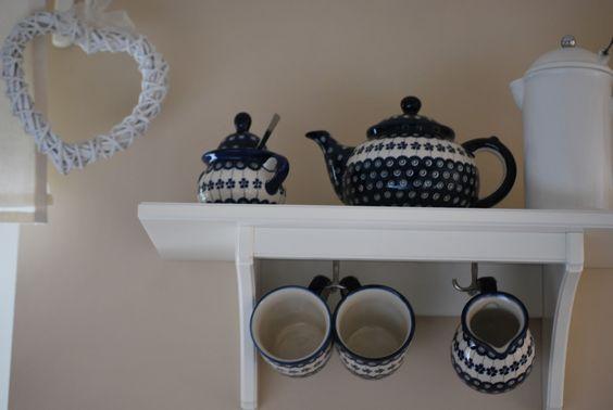 White & Blue ceramics from Poland.