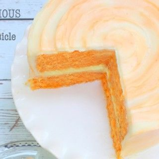 Delicious Homemade Orange Dreamsicle Cake Recipe by MyCakeSchool.com! Online Cake Decorating Tutorials