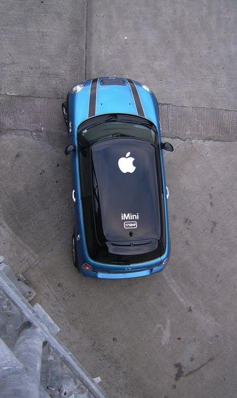 MINI Apple Roof Graphic MINI Art Cars Pinterest Mini - Bmw mini roof decals