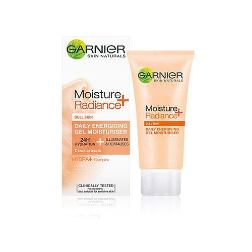 Garnier Skin Naturals Moisture Radiance Gel Moisturiser 50ml Gel Moisturizer Moisturiser Moisturizer