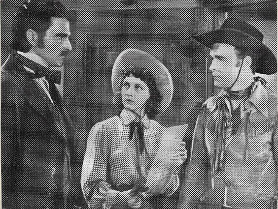 1940: Roy Rogers, Jacqueline Wells (Julie Bishop) and Harry Brandon in The Ranger and the Lady