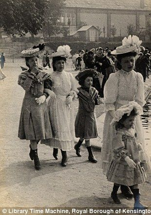Edwardian street style: Astonishing amateur images which capture the fashion of women in London and Paris over a century ago