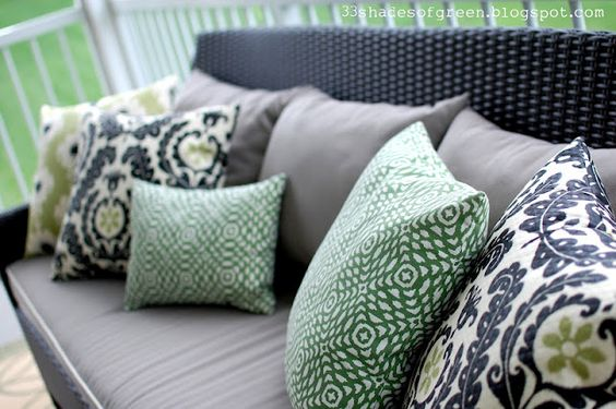 green, black, lime, grey, painted wicker