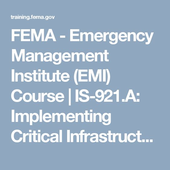 FEMA - Emergency Management Institute (EMI) Course IS-36 - fema application form