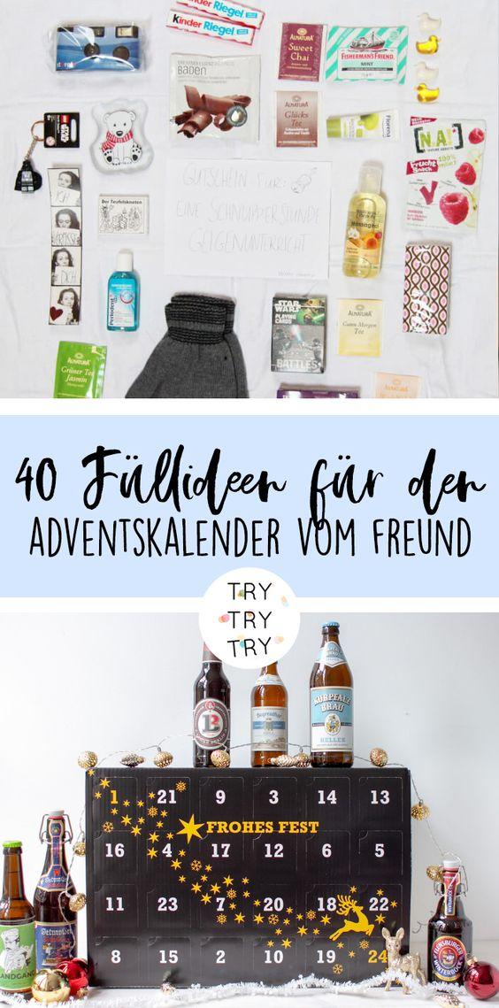 40 kreative Ideen für die Adventskalender-Füllung für den Freund