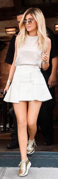 Kylie Jenner: Sunglasses – Barton Perreira Shirt – Iro Shoes – Nike Bracelet – Cartier Watch – Audemars Piguet