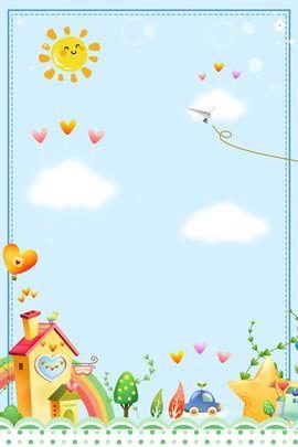 As Criancas Dos Desenhos Animados Leem Livros E Comecam As Aulas Kids Background Cartoon Background Children S Day