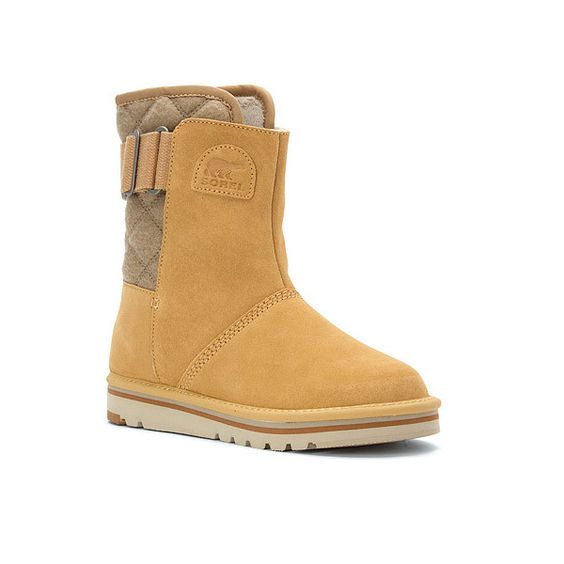 SOREL The Campus ($71) ❤ liked on Polyvore featuring shoes, boots, curry, winter boots, sorel boots, sorel footwear, cold weather boots and cold weather shoes