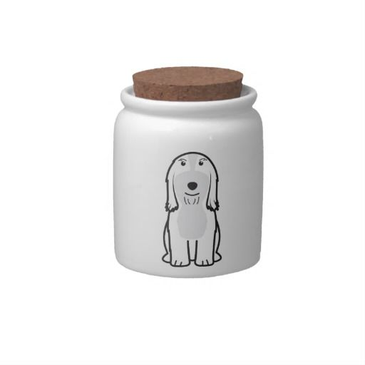 Bearded Collie Dog Cartoon Candy Dishes